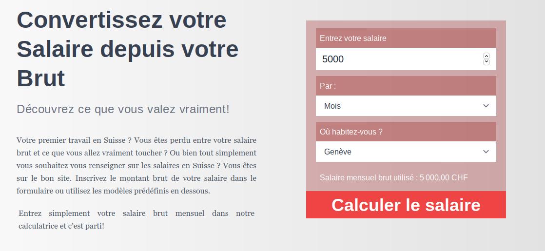 Salaire en Suisse : new website